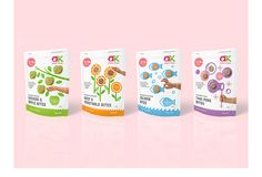 Food Illustrations and pouch package design for 1-4Yr+ ready bite-sized food for toddlers by Annabel Karmel. Designs by Dessein, Australia
