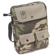 Camouflage Cargo Bible Cover, Large   -