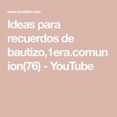 Ideas para recuerdos de bautizo,1era.comunion(76) - YouTube Youtube, Ideas, Simple, Thoughts, Youtubers, Youtube Movies
