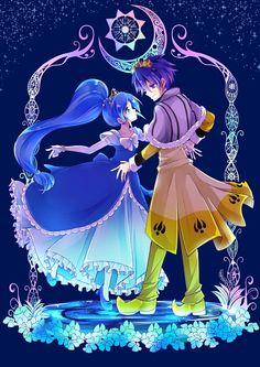 Tags: Anime, Princess, Dancing, Yellow Outfit, Fushigiboshi no☆Futagohime, Rein, Prince