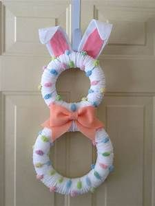 Easter Bunny Wreath Pastel Bunny by BlueHouseDesignz on ...