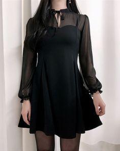 Audrey Chiffon Mini Dress - Fashion New Trends Ulzzang Fashion, Asian Fashion, Look Fashion, Dress Outfits, Cool Outfits, Fashion Dresses, Cute Dresses, Beautiful Dresses, Pinterest Fashion