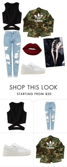 """Untitled #249"" by timcaaa on Polyvore featuring Topshop, adidas and Lime Crime"