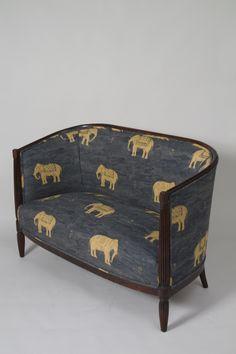 Elephant Print Art Deco Settee I WANT THIS SOOOO BAD