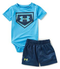 Under Armour Baby Boys Newborn-12 Months Baseball Home Plate Bodysuit & Shorts Set