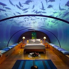 Poseidon Underwater Resort on a private island near Fiji