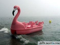 Flamingo pedal boat