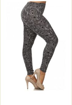 women's plus size leggings, pants, comfortable and stretchy, 1x/2x