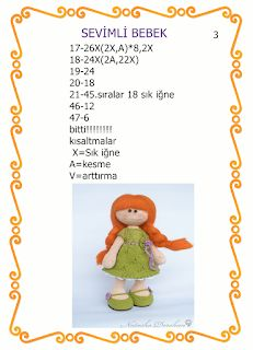 HAYATIMIN İÇİNDEN.....: zeytin gözlü bebeğim ve yapılışı..... Crochet Doll Pattern, Crochet Dolls, Crochet Baby, Baby Knitting Patterns, Doll Patterns, Amigurumi Doll, Doll Accessories, Kids And Parenting, Crochet Animals