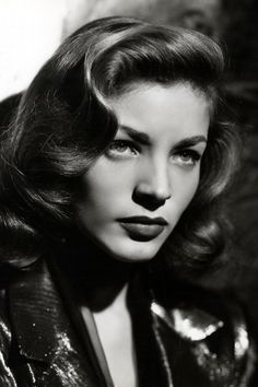 Lauren Bacall, divine. My only consolation is that I can mimic her sexy voice when I'm illin'.