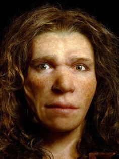 Some Neanderthals had Brown Eyes, Dark Skin. A genetic study of two Neanderthal females found in Croatia has revealed that they had brown hair and brown eyes. A human ethnic group. Prehistoric Man, Prehistoric Animals, Forensic Facial Reconstruction, Religions Du Monde, Early Humans, Human Evolution, Brown Eyed Girls, Dark Skin, Light Skin