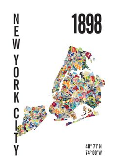 New York City Neighborhood Map Print – JHill Design Map Prints
