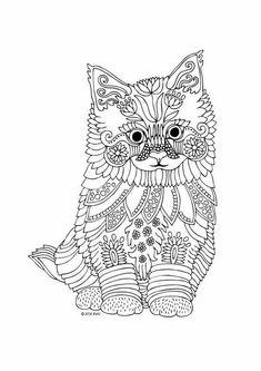 раскраски антистресс кошки лучшие изображения 29 в 2018 г
