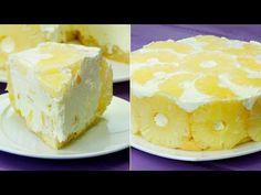 Tort de iaurt cu ananas- cel mai gingaș tort fără coacere, merită să-l încercați! - YouTube