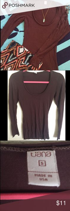 Brown Light Long Sleeve Light and comfortable fabric, chocolate brown color. New without tags. Tiana Tops Tees - Long Sleeve