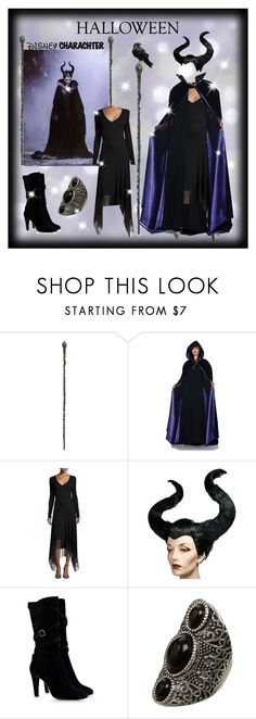 """""""Maleficent Costume"""" by cyfy317 ❤ liked on Polyvore featuring Disney, Carmen Marc Valvo, Alberta Ferretti, 60secondstyle and disneycharactercostume"""