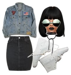 """""""Retro"""" by beautyqueen-927 ❤ liked on Polyvore featuring Topshop and Revo"""