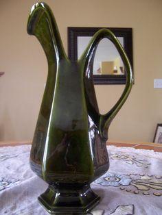 Vintage Lane Ceramics Olive Green Hi Lustre by mimishomefashions, $17.95