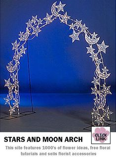 Sparkling stars and moon archway for your wedding entrance $279.99 Starry Wedding, Galaxy Wedding, Wedding Night, Wedding Ceremony, Ceremony Arch, Reception, Wedding Trends, Wedding Ideas, Wedding Designs