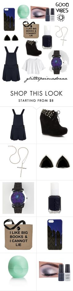 """""""Galaxy Girl"""" by glitterprimadonna ❤ liked on Polyvore featuring Topshop, Fashionology, Henri Bendel, Essie, Jordan Carlyle, Eos and Luminess Air"""