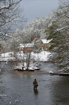 #FlyFishing along the WNC Fly Fishing Trail, on the Tuckasegee River.