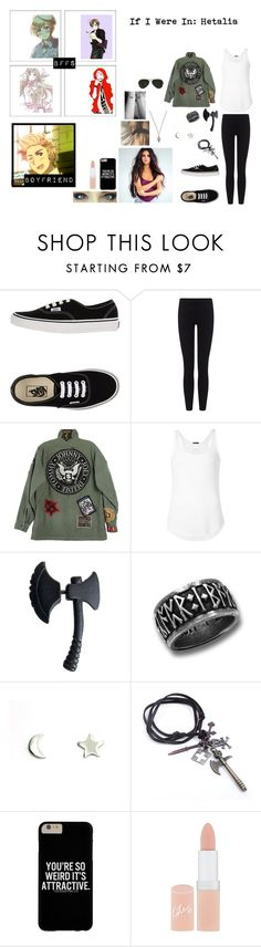 """If I Were In: Hetalia (tag)"" by xxtoo-happy-to-be-emoxx ❤ liked on Polyvore featuring Vans, James Perse, R13, ATM by Anthony Thomas Melillo, Upper Metal Class, Rimmel and Ray-Ban"