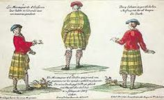 French engraving 3 views of the plaid & short coat