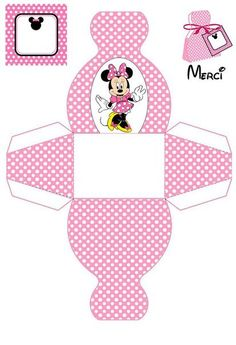 Mickey Party, Minnie Mouse Party, Mickey Mouse, Minnie Mouse Favors, Pink Minnie, Diy Gift Box, Diy Box, Printable Box, Printables