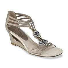 Laura Scott Women's Midnight Silver Embellished Wedge Sandal from Sears — $30