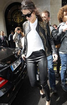Update your look with Kendall's leather leggings