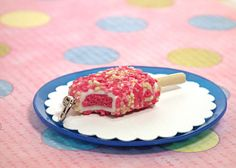 Strawberry Shortcake Ice Cream Bar Charm by meesespieces on Etsy, $12.00