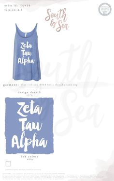 South by Sea | Greek Tee Shirts | Greek Tank Tops | Custom Apparel Design | Custom Greek Apparel | Sorority Tee Shirts | Sorority Tanks | Sorority Shirt Designs | Tank | Summer | Recruitment