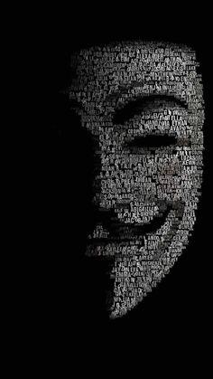 アノニマスのタイポグラフィ iPhone壁紙 Wallpaper Backgrounds iPhone6/6S and Plus anonymous Typography