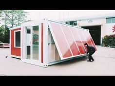 luxury expandable container house - YouTube