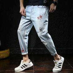 Men's Jeans, Denim Pants, Men Street Outfit, Striped Jeans, Best Jeans, Mens Clothing Styles, Denim Fashion, Men Casual, Menswear