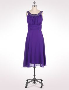 Crystal Neckline Chiffon Dress :: I love the simple elegance and modesty of this little dress!  Very pretty