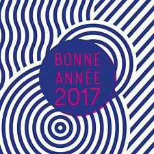 Carte de voeux à l'accent marin et 70's très à la mode cette année. Design et vintage à la fois, cette carte rouge et bleue fera un immense plaisir à tous vos partenaires !