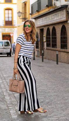 12 Ways to Wear Wide Striped Pants: The Cut waysify
