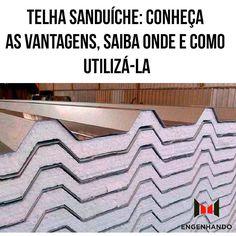 """618 curtidas, 14 comentários - Engenharia Civil/Construção (@engenhando_) no Instagram: """"O sistema é chamado de sanduíche, pois conta com duas camadas interligadas (telha metálica ou…"""""""