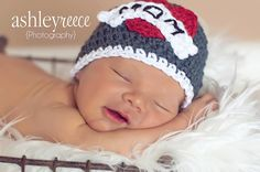 Nb-3m size Crochet hat, newborn hat, baby hat, Valentines Hat Tattoo Heart Beanie Gray Crochet photography prop. $22.00, via Etsy.