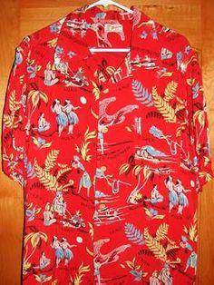 """Malihini"" 50s Rayon shirt"