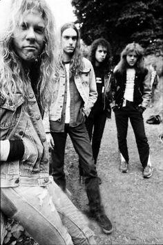 James Hetfield, Cliff Burton, Kirk Hammet, and Lars Ulrich