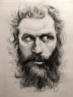 Tormund Giantsbane of Game of Thrones, sketch by Heather Lenefsky Cool Art Drawings, Art Sketches, Portrait Art, Portraits, Game Of Thrones 1, Men Art, Ragnar, Fire And Ice, Hairy Men