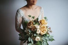 PRISCILLA + JOHN // #wedding #bride #flowers #bouquet #bridal #bridesmaids #peach #apricot #foliage #romantic #elegant #rustic
