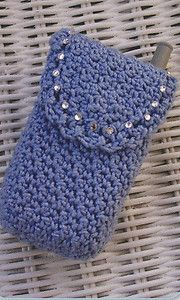 Crochet Pattern ~ CRYSTAL CELL PHONE CASE ~ Instructions