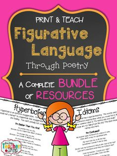 Bundle of resources to teach Figurative Language: Simile, Metaphor, Idiom, Hyperbole, Imagery, Personification, Onomatopoeia, Alliteration. $