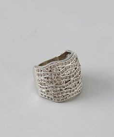 Take a look at this Silver & Cubic Zirconia Pave Layered Ring by ICON on #zulily today!