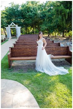 Bridal photo at Avalon Legacy Ranch in wooden pews
