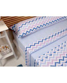 Bonito juego de sábanas con diseño de espiga a un precio muy barato. Todas las medidas de cama. Compra tus sábanas en Revitex, ¡somos especialistas!