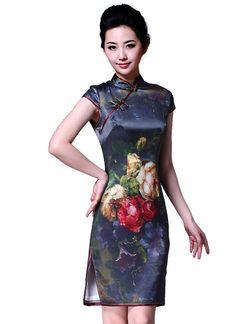 Old lover. Vantage summer silk cheongsam dress
